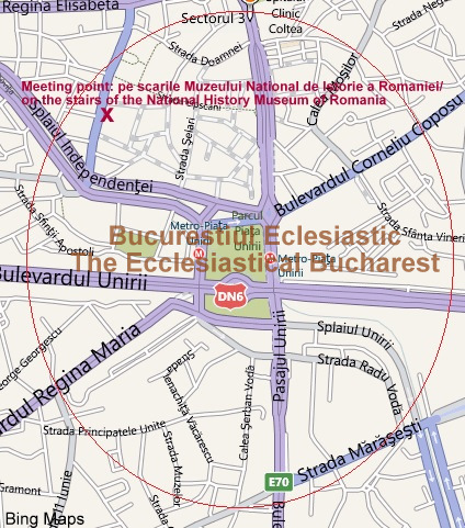 Harta tur arhitectural tematic: Bucurestiul ecleziastic - Case de Epoca -