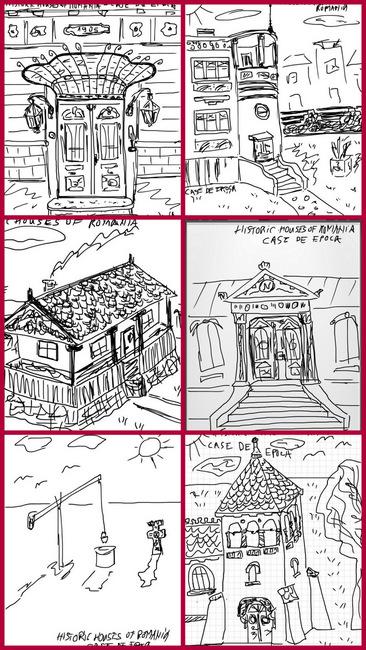 Schite reprezentative de peisaje contruite romanesti, de autorul blogului Case de Epoca