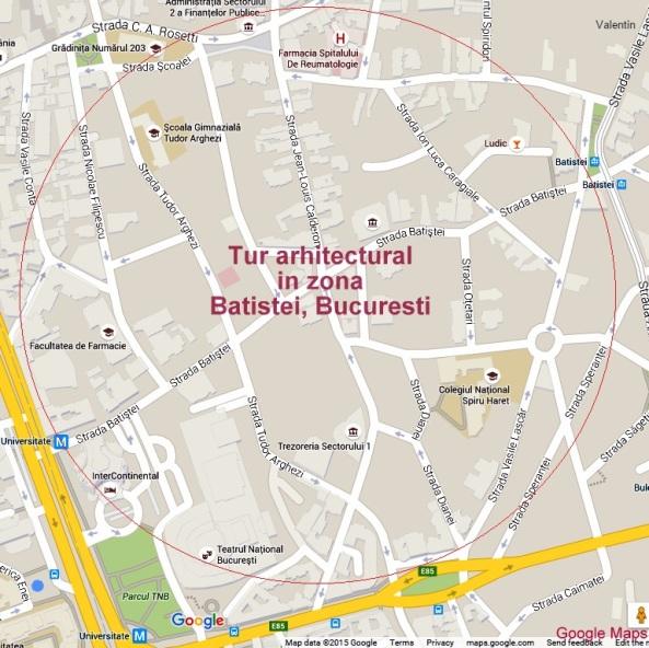Tur arhitectural Case de Epoca in zona Batistei, Bucuresti