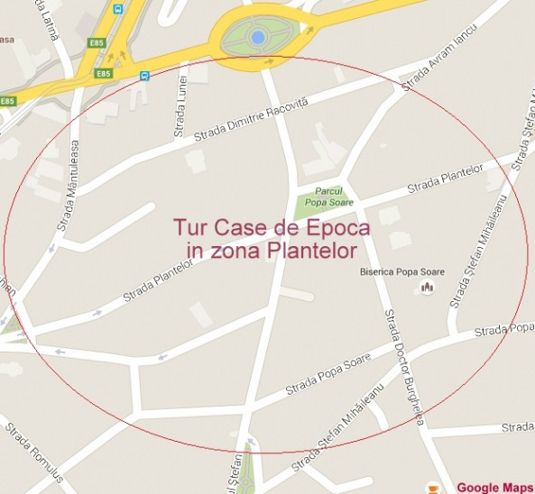 Tur arhitectural Case de Epoca in zona Plantelor, Bucuresti