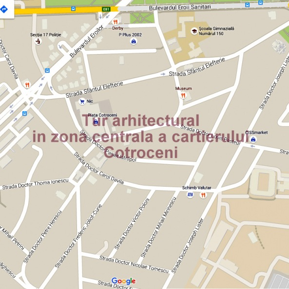 Tur arhitectural Case de Epoca in zona centrala a cartierului Cotroceni
