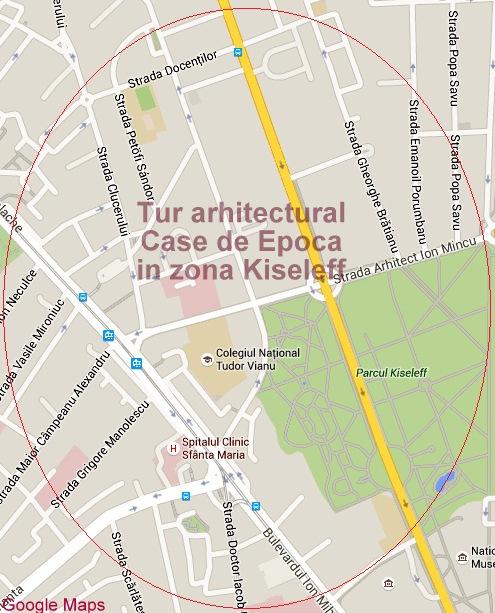 Tur arhitectural Case de Epoca in zona Kiseleff